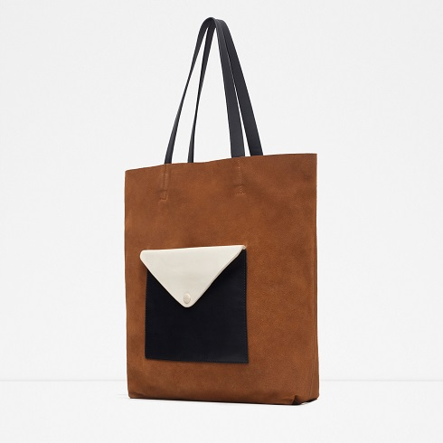 Suede Holdall With Front Pocket, $69.90, zara.com