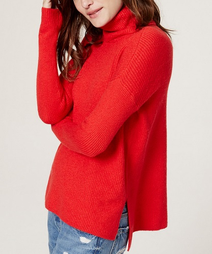 Ribbed Turtleneck Sweater, $59.50, loft.com