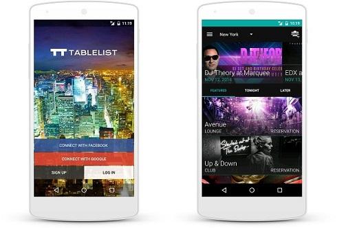 Tablelist app