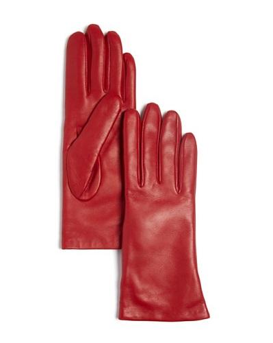 Short Cashmere Lined Gloves, $66, bloomingdales.com