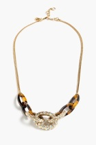 Pave Tortoise Link Necklace, $45, jcrew.com