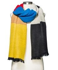 Women's Cozy Colorblock Scarf, $16.99, target.com