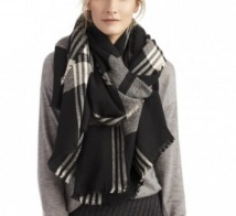 Wool Plaid Scarf, $44.95, solesociety.com