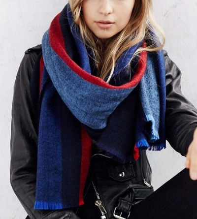 BDG Vertical Stripe Oversized Blanket Scarf, $49, urbanoutfitters.com
