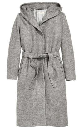 Hooded Wool-Blend Coat, $99, hm.com