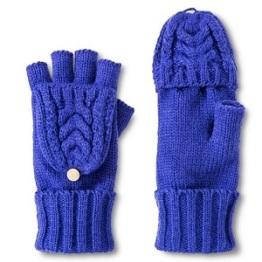 Women's Merona Cable Knit Flip Top Fingerless Gloves, $12.99, target.com