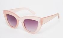 ASOS Flat Top Cat Eye Sunglasses in Matte Pink, $17.50, asos.com