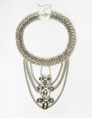 ASOS Statement Chain Bib Necklace, $35, asos.com