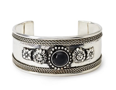 Etched Faux Stone Cuff, $5.90, forever21.com