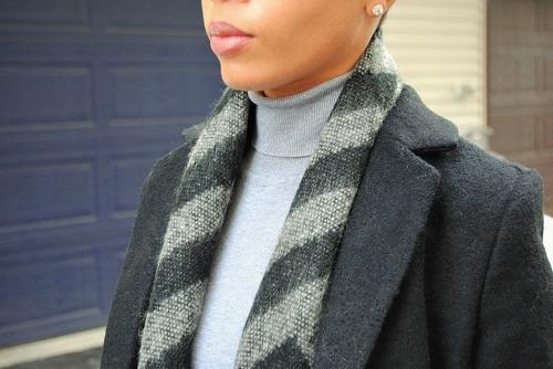 What I'm Wearing: Printed Wool Scarf