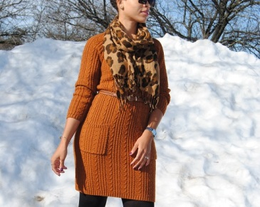 What I'm Wearing: Sweater Dress