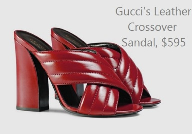 Luxe Life vs. Real Life: Gucci's Leather Crossover Sandal