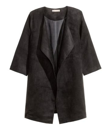 Imitation Suede Coat, $59.99, hm.com