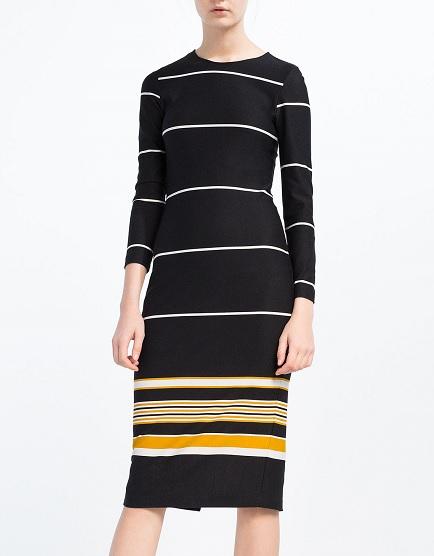 Striped Dress, $39.90, zara.com