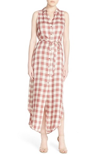 BB Dakota 'Lance' Check Maxi Shirtdress, $98, nordstrom.com