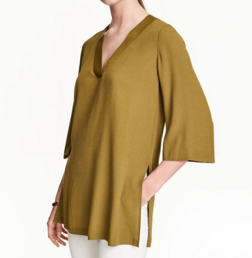 V-Neck Tunic, $34.99, hm.com