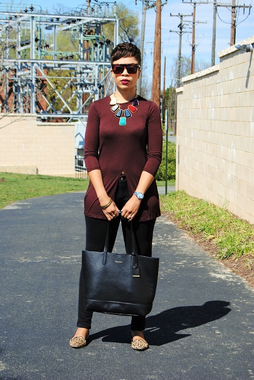 What I'm Wearing: Split-Front Tunic
