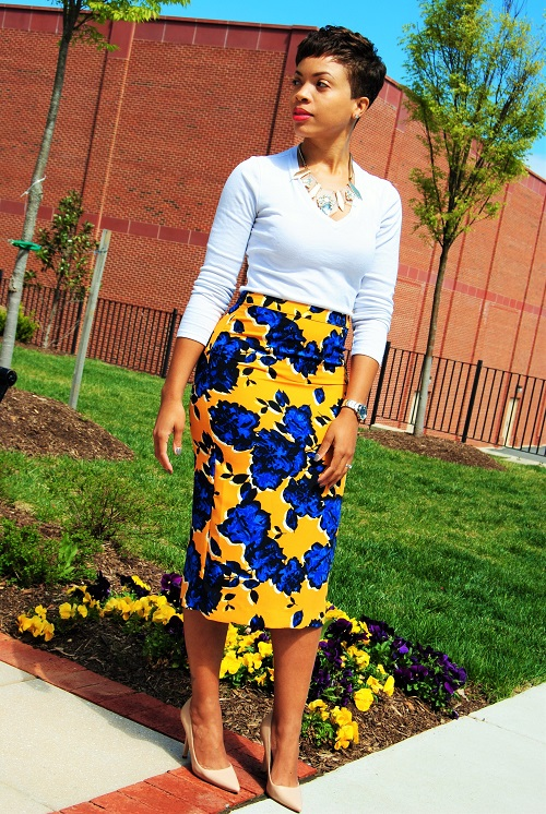 What I'm Wearing: Floral Print Midi Skirt