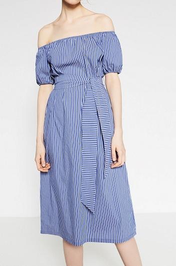 Striped Midi Dress, $69.90, zara.com