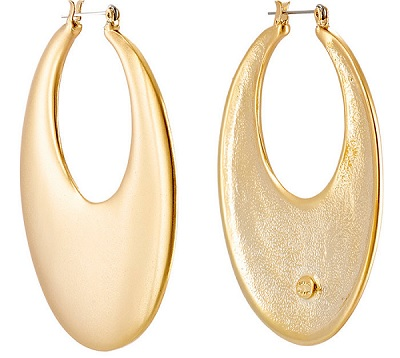 Kenneth Jay Lane Wide Hoop Earrings, $39, barneyswarehouse.com