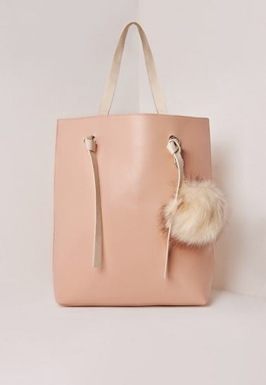 Pom Pom Tote Bag, $40.38, missguidedus.com