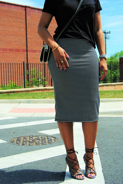 What I'm Wearing: Jacquard Print Midi Skirt