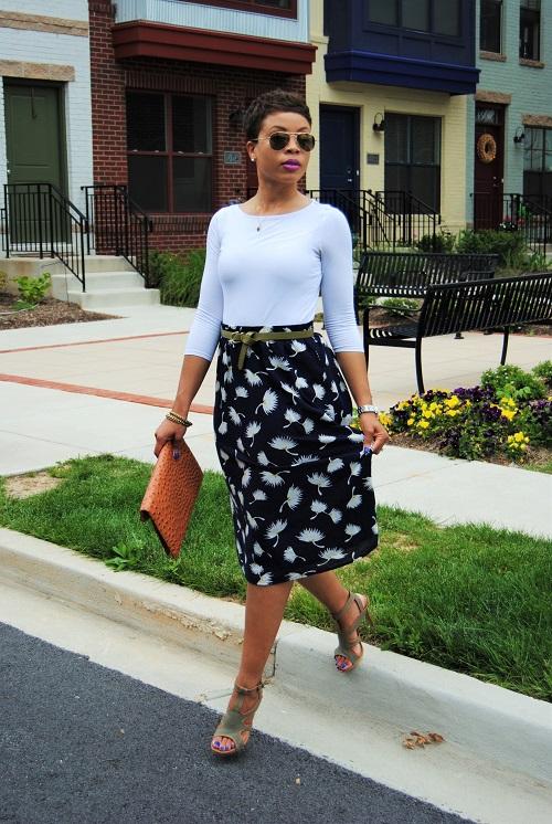 What I'm Wearing: Printed Full Skirt