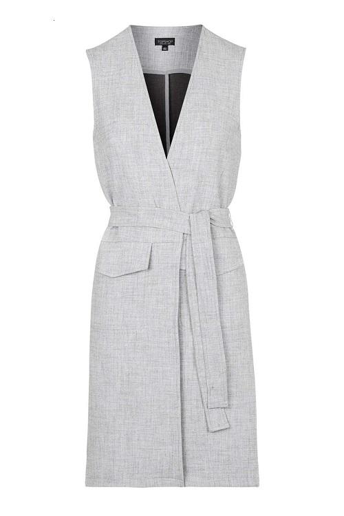 Belted Sleeveless Jacket, $28.50, topshop.com