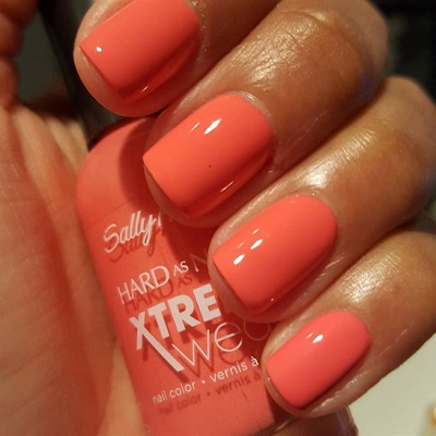 "Sally Hansen Hard as Nails Xtreme Wear Nail Polish in ""Coral Reef"""