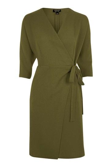 Batwing Wrap Dress, $90, topshop.com