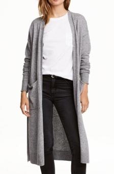 Long Cashmere-Blend Cardigan, $74.25, hm.com