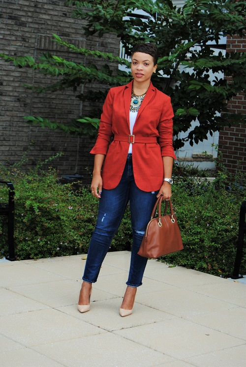 What I'm Wearing: The Belted Blazer