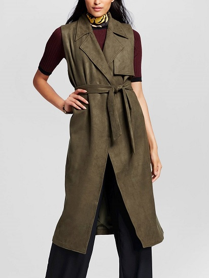 WhoWhatWear Collection Women's Sleeveless Trench Vest, $49.99, target.com