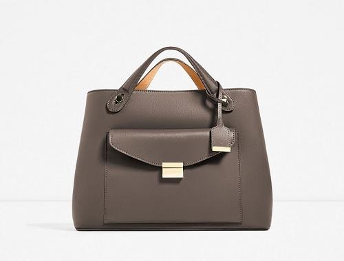 Basic Big City Bag, $69.99, zara.com