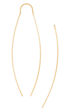 Slim Bow Drop Earrings, $32, baublebar.com