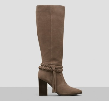 Pull Apart Suede Knee-High Boot, $180, kennethcole.com