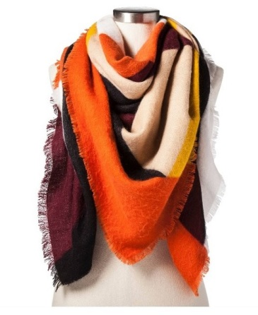 WhoWhatWear Collectioni Multi-Colored Scarf, $23, target.com