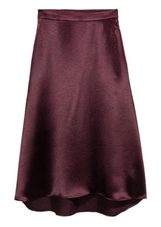 Satin Skirt, $34.99, hm.com