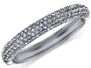 Silver Tone Pave Hinge Bracelet, $31.50, macys.com