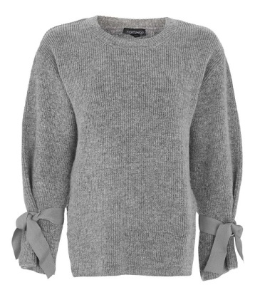 Soft Tie Sleeve Knit Jumper, $75, topshop.com