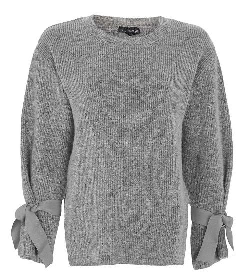 Soft Tie Sleeve Knit Jumper, $75, topshop.com