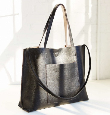 Reversible Vegan Leather Tote Bag, $60, urbanoutfitters.com