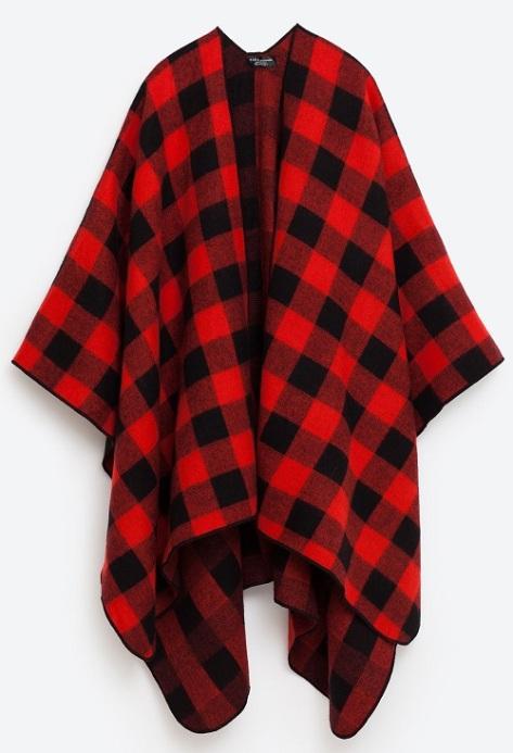 Check Poncho, $50, zara.com